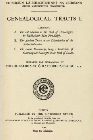 Genealogical Tracts I