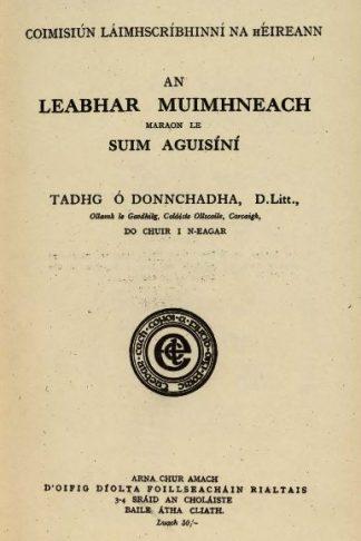 Leabhar Muimhneach